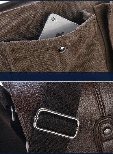 Topdudes.com - British Style Vintage Canvas & Leather Messenger Bags