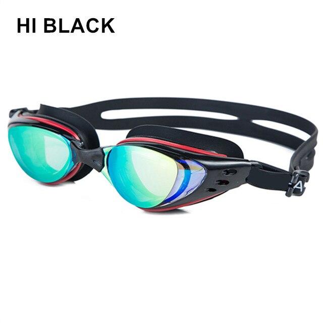 eb62c839a6 Men Women silicone Anti Fog UV Protection Swimming Goggles myopia  Electroplate Waterproof Swim Glasses diopter swim eyewear