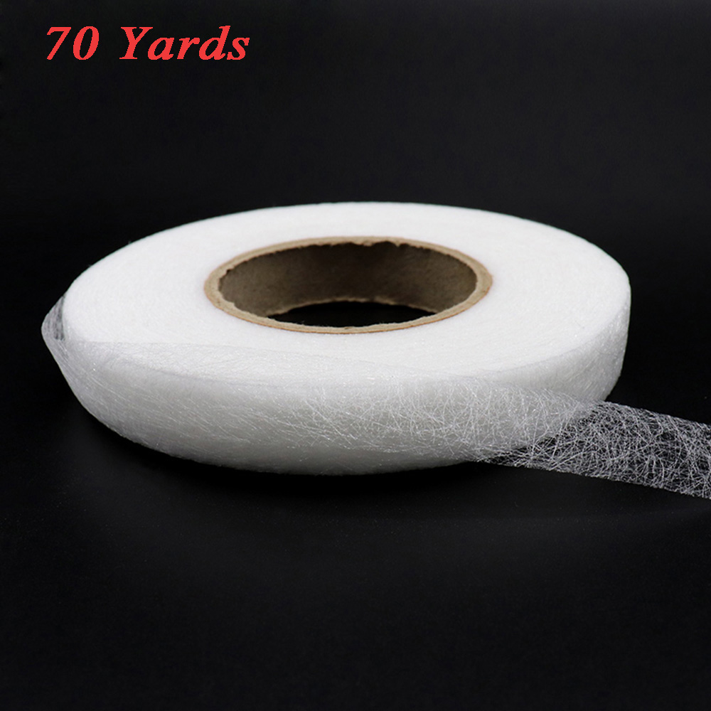 1CM 70 Yards Double Sided Fusible Sewing Fabric Hemming Tape DIY Cloth Craft Sewing Accessory