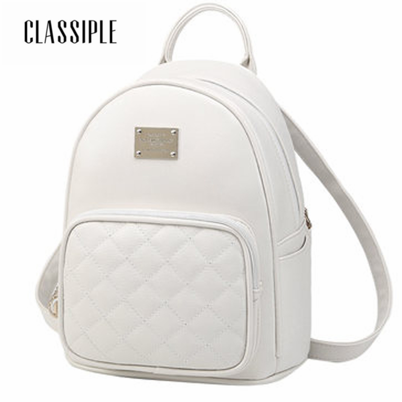 2018 School Bags For Girls Backpacks For Women White Females Backpack Hot Sale Fashion Causal Bags Teenagers High Quality Ladies aidoudou hot sale rivet women leather backpack fashion school bags for teenagers girls high quality ladies backpacks black