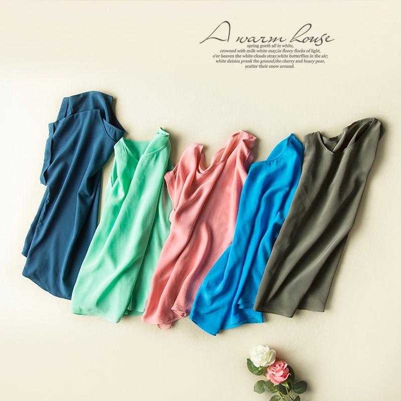Këmisha me të vërtetë mëndafshi Veshja të shkurtra me mëngë - Veshje për femra - Foto 6