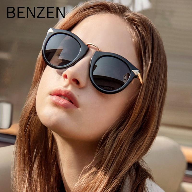 BENZEN Frauen Polarisierte Sonnenbrille Vintage Pfeil Weibliche Sonnenbrille Oculos De Sol Feminino Gafas UV 400 Mit Fall 6034