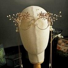 Сплав металла фея/мечта/Студия/стразы цветок олень необычные фото съемки/косплей-очки