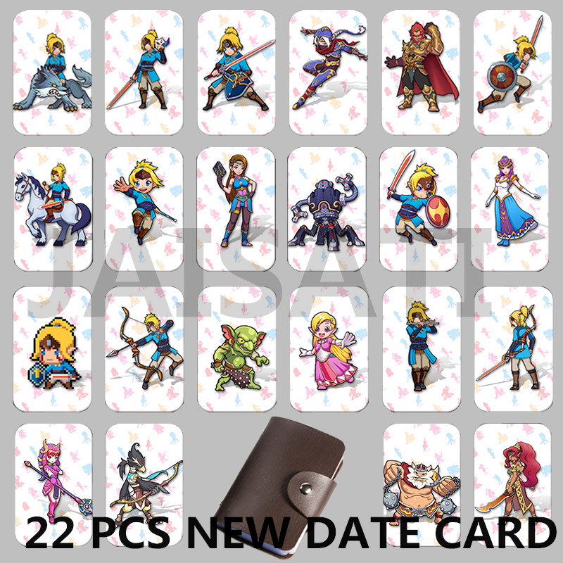 Newest 22 pcs NTAG215 Zelda NFC Card 20 Heart Wolf Revali Mipha Daruk Urbosa For Game the Legend of Breath of the wild NS Switch 11 pieces splatoon 2 full set nfc card neon purple inkling squid boy and girl sisters callie and marie for switch ns