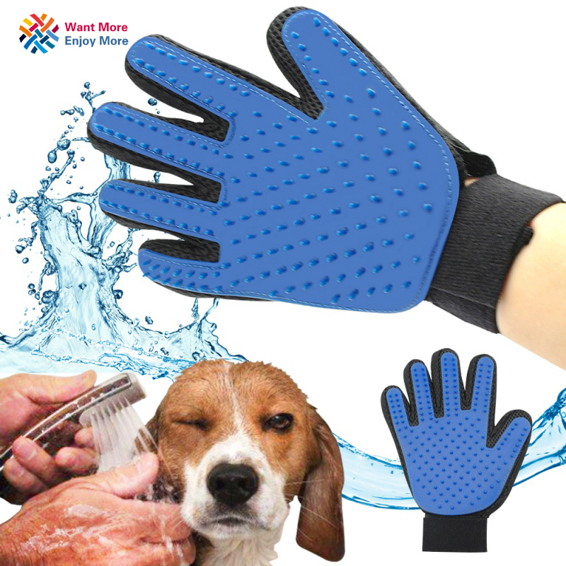 Pet Brush Glove Deshedding Furmins Efficient Pet Grooming Glove Dog Bath Cat Cleaning Supplies Pet Glove Dog Accessories
