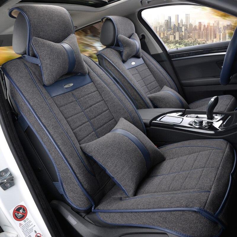 Белье сиденье автомобиля охватывает весь летом подушки пакет Новинка четыре сезона универсальный сиденья ткань сидит установить специаль... ...