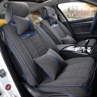 Linen Car Seat Covers The Whole Summer Cushion Package The New Four Seasons Universal Car Seat