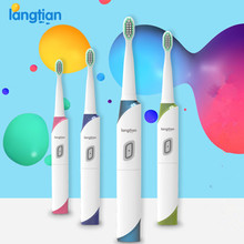 Langtian LT-Z18 Ultrasonic Sonic Electric Toothbrush 4 Pcs Replacement Heads Toothbruh No Charge Last For 1 Year
