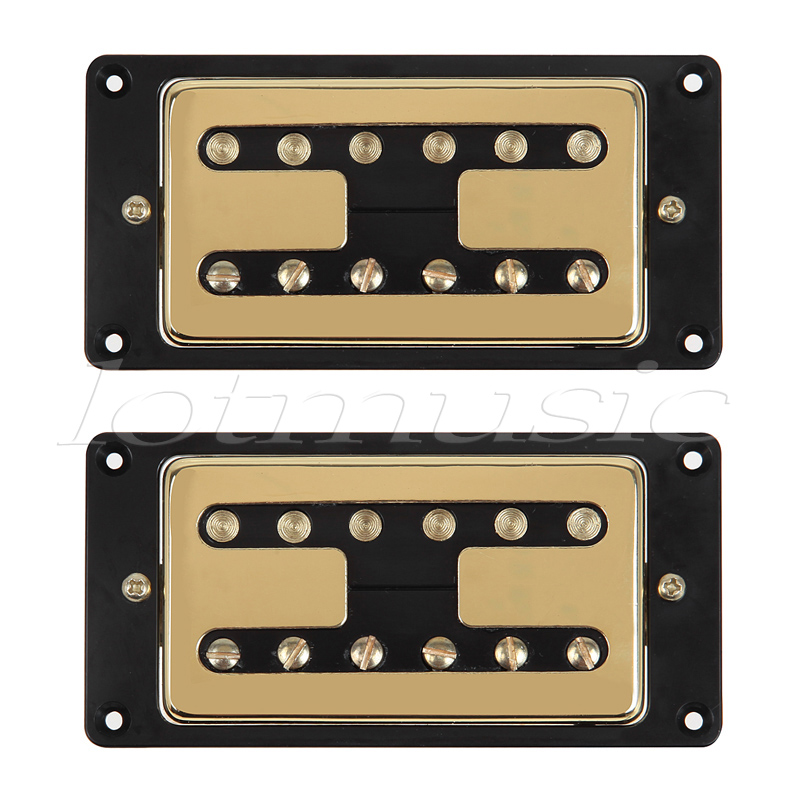 Electric Guitar Pickups Humbucker Chrome Gold Double Coil Pickup Guitar Parts Accessories belcat bass pickup 5 string humbucker double coil pickup guitar parts accessories black