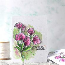 Naifumodo Flower Metal Cutting Dies for DIY Scrapbooking Stamp and Die Leaves Clear Card Making Crafts New 2019