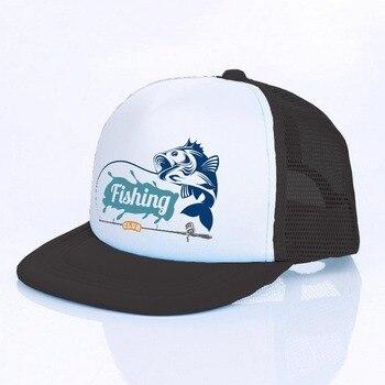 Hombres amantes de la pesca al aire libre gorra de béisbol Vintage Go Fishing eslogan malla sombrero de caza Fishing Club anunciada Snapback Cap YY131