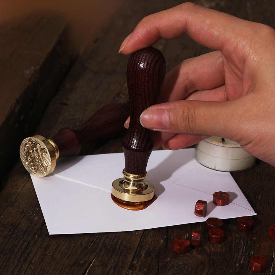 Retro Bunga Surat Menyelimuti Stempel Dekoratif untuk Pernikahan Pos Vintage Dekorasi Kerajinan Pembuatan Kartu Alat