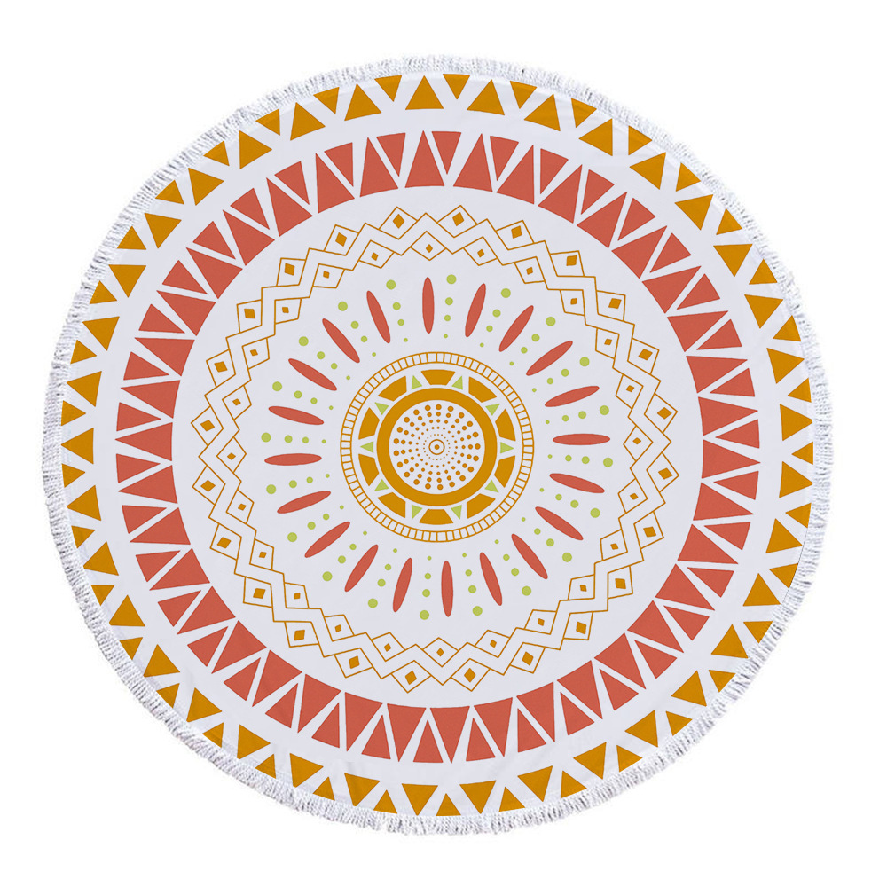 India macrame exotic tapestry wall hanging witchcraft Mandala religious tapestry sunflower bohemia round carpet yoga mat towel in Tapestry from Home Garden