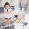 3-pk 2017 Nueva Primavera Verano 1 ~ 10y Bebé Infantiles calcetines de Algodón Niños de Niño y Niña Niños Calcetines cortos de Dibujos Animados carta C306