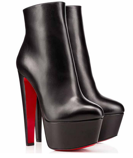 Sexy Women Boots Red Bottoms Booties Fierce Leather Ankle Boots