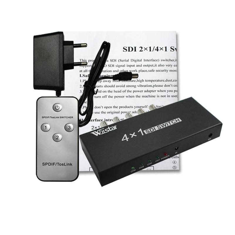 wiistar SDI Switcher 4x1 HUB SDI Intelligent Switch Extender 4 till 1 - Säkerhet och skydd - Foto 1