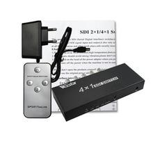 wiistar  SDI Switcher 4x1 HUB SDI Intelligent Switch Extender 4 To 1 Converter for 3G HD SD Monitor Security Camera CCTV