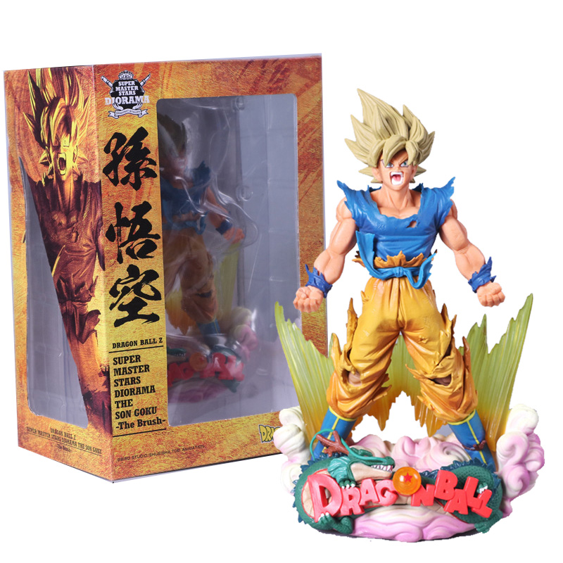 24cm Dragon Ball Z Dbz Super Master Stars Diorama Smsd The Brush Son Goku Pvc Figure Collectible Model Toy Relieving Rheumatism And Cold Toys & Hobbies