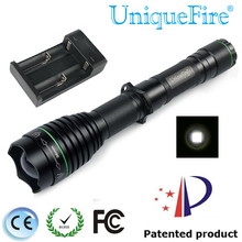 UniqueFire 1508 T38 XPE Flashlight White Light+Charger Adjustable Focus Water Resistant Brightest Torch For Camping