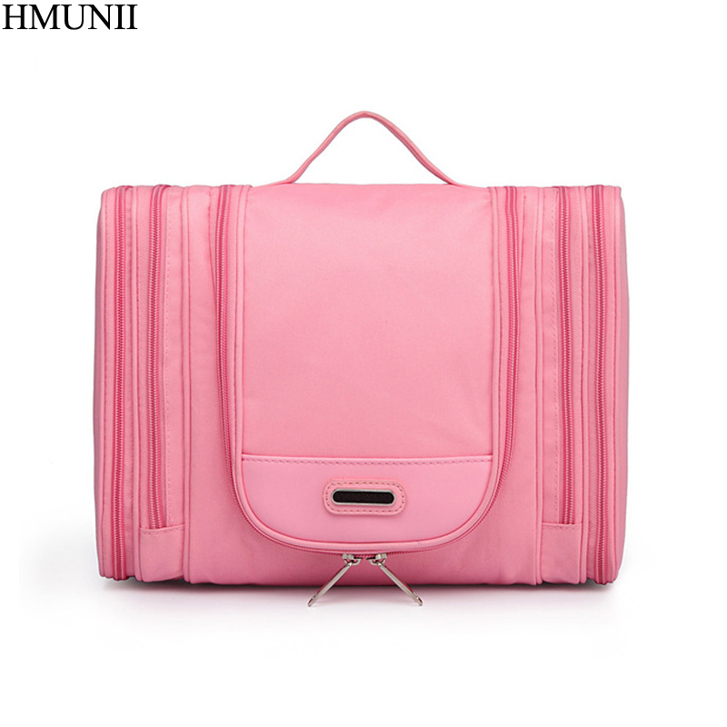 HMUNII Brand Men's Cosmetic Bag Professional Make-up Artist Make-up Brush Beauty Bag Travel Organizer Travel Toiletry Bag B1-41 make up bag mano 13422 setru fuchsia