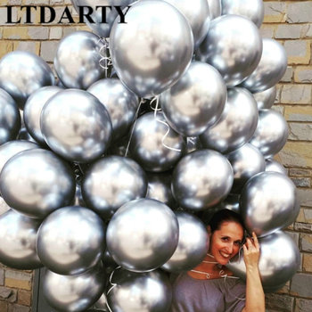 10PCS 12inch silver gold Metallic Latex Balloons Pearly Metal balloon Gold Colors Globos Wedding Birthday Party Supplies Balloon