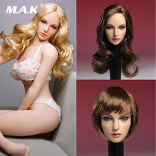 In stock 1/6 SUPER DUCK SDH005 1/6th American European beauty Head Model For PH pale color body