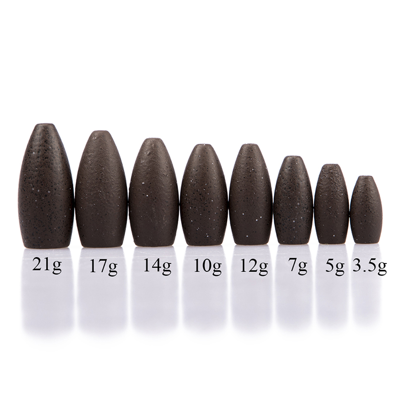 3.5/5/7/10/12/14/17/21g Fishing Sinker Lure Tungsten Bullet Flipping Weight Worm Weight Fishing Accessories
