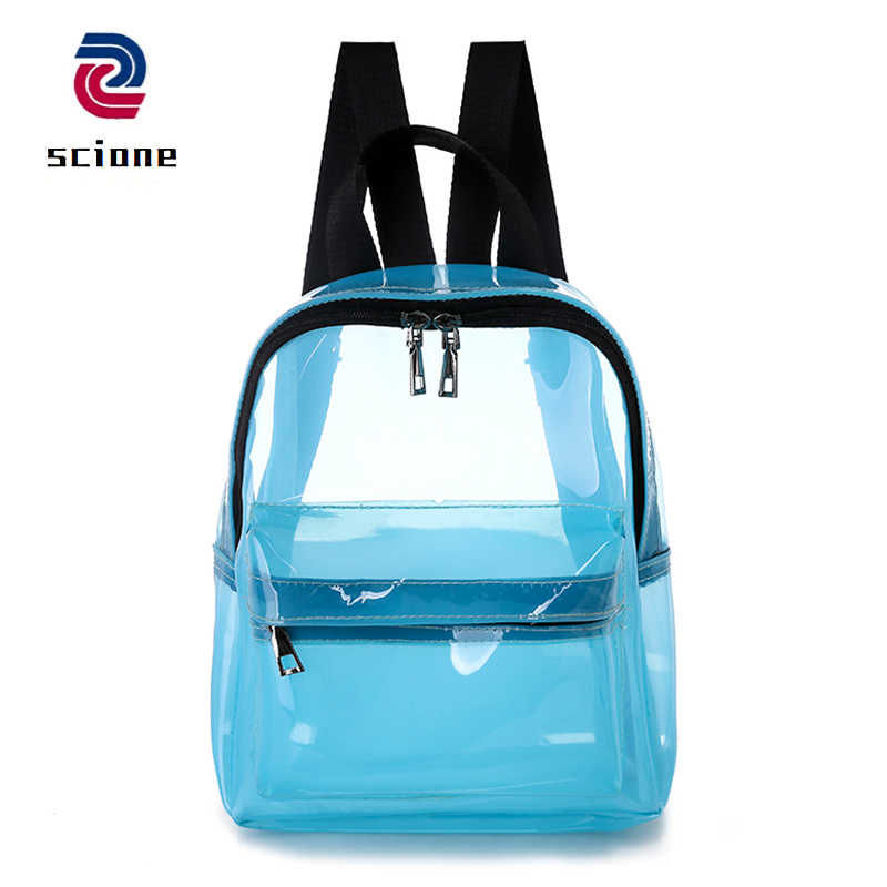 Милые прозрачные женские рюкзаки из ПВХ желе цвет школьные сумки для подростков девочек мода ITA Сумка дорожная пляжная сумка
