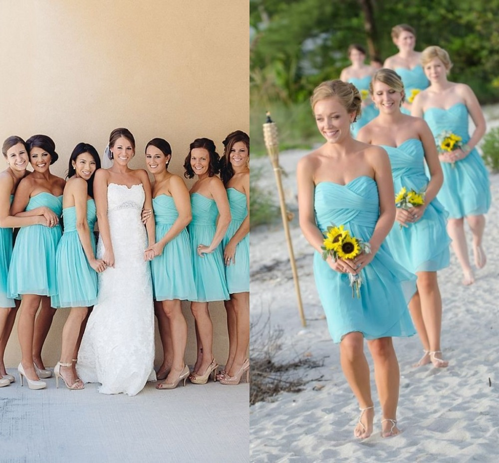 Online Buy Wholesale ice blue bridesmaid dresses from China ice ...