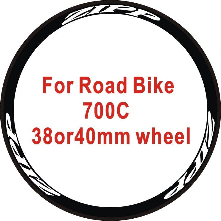 2Wheels/set Road Bike 700c 38or40 Wheel Stickers Bicycle Stickers Wheel Rim Decorative Bike Decals Wheel Stickers