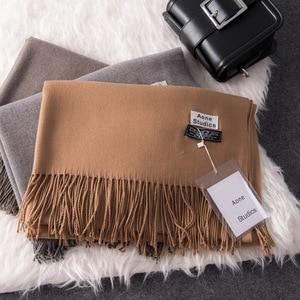 Image 2 - Écharpes en cachemire épais et chaud pour femmes