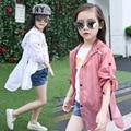 Niñas ropa de protección sol de la rebeca ropa de protección solar del verano de los nuevos niños ropa niñas chaqueta con capucha