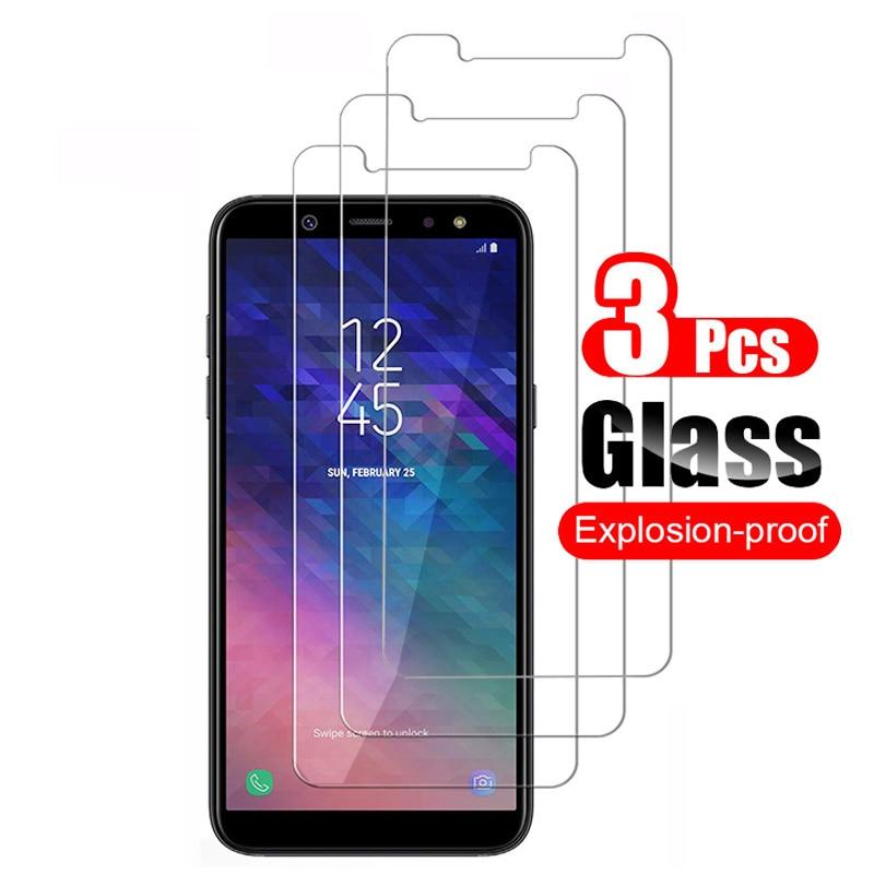 3 шт. протектор экрана из закаленного стекла для samsung Galaxy A6 A6 + Plus 2018 A6s защитная пленка 9 H против царапин стекло