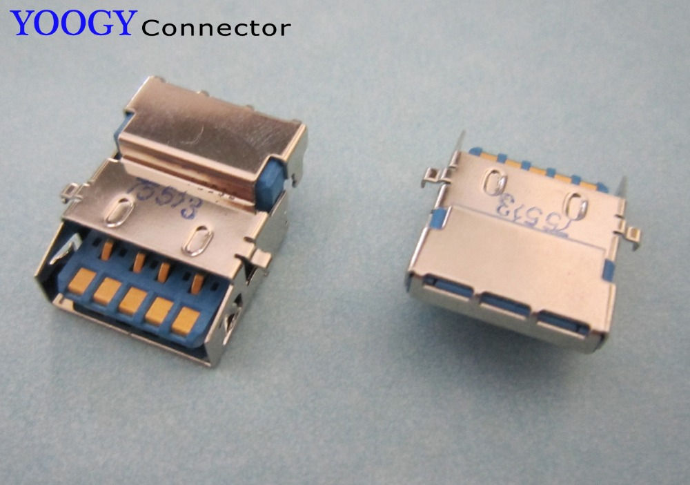 1pcs USB3.0 Female Connector, Common Use Laptop Motherboard USB3.0 Socket Port
