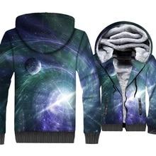 New Fashion Mens Clothing 2018 3D Space Galaxy Sweatshirts Hip Hop Unisex Jacket