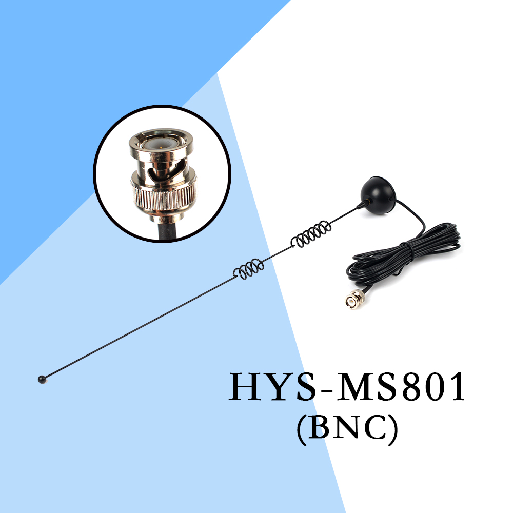 2PCS HYS-MS801 Cable BNC Walkie Talkie Antenna Magnetic Dual Band VHF/UHF Mobile Magnet Indoor Two Way Ham Antenna PX-2R PX-V6