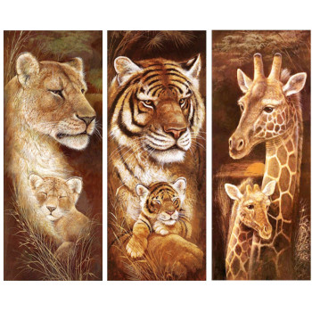 Animal Diamond Embroidery 5D DIY Diamond Painting Christmas Tiger and Giraffe Cross Stitch Full Rhinestone Mosaic