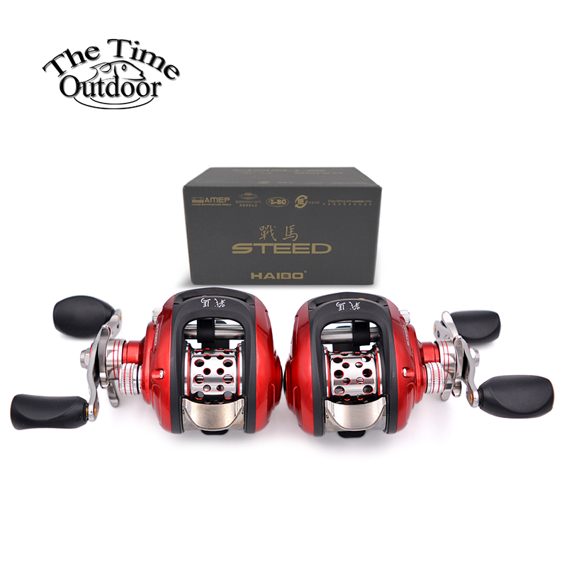Haibo Steed Left Right Hand Metal Baitcasting Fishing Reel Bait Casting Reel Magnetism Braking System Max
