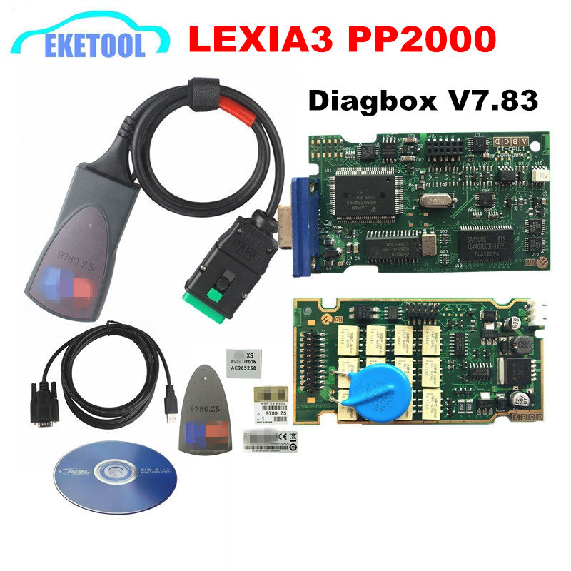 Professional Lite Lexia3 PP2000 Diagbox V7.83 PSA XS эволюция для Citroen/для peugeot LEXIA-3 FW 921815C Lexia 3 нормальный чип