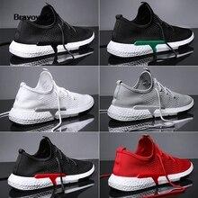 Bravover Новый пропускающие воздух беговые для улицы обувь на шнуровке мужские сетки обувь удобные и легкие красочные кроссовки шесть цветов