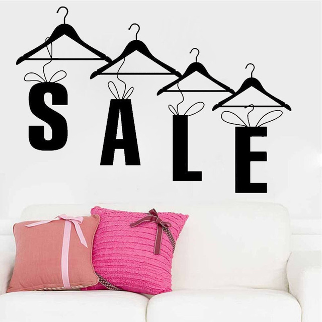 4c9f704a426 Sale Shopping Clothing Store Fashion Wall Decal Vinyl Stickers Art Mural  Shop Window Decoration Quotes Sales Decor ZS49