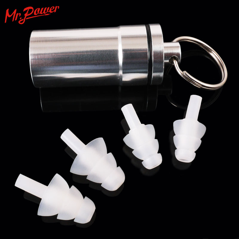 Drummer HearSafe Ear Plugs Reduction Noise Reduction Musician Perlindungan Earplug dengan Case For Concert Percussion DJ Clubbing 33 D