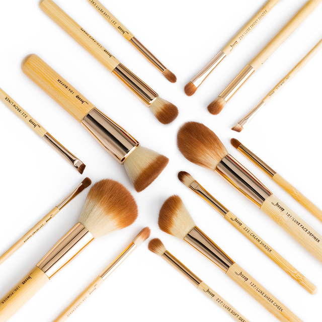 Jessup Makeup Brushes Set Bamboo Foundation Powder Eyeliner Bronzer Sculpting brush pincel maquiagem Professional Cosmetic Tool 3