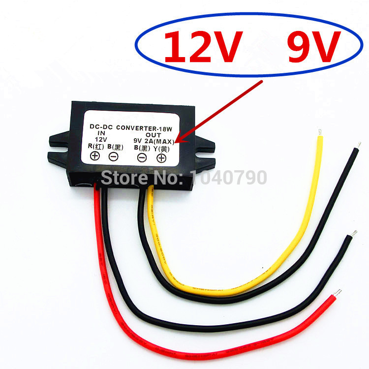 Voltage Regulator 12V To 9V Car Power Supply Converter Dc Voltage Stabilizer  DC - DC Voltage
