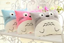 Japan Anime TOTORO Pillow Cushion with Blanket Stuffed Plush Toys Cartoon Blue or Pink Totoro Cat Pillows Free Shipping