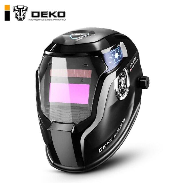 DEKO Skull Solar Auto Darkening Adjustable Range 4/9-13 MIG MMA Electric Welding Mask/Helmet/Welding Lens for Welding Machine