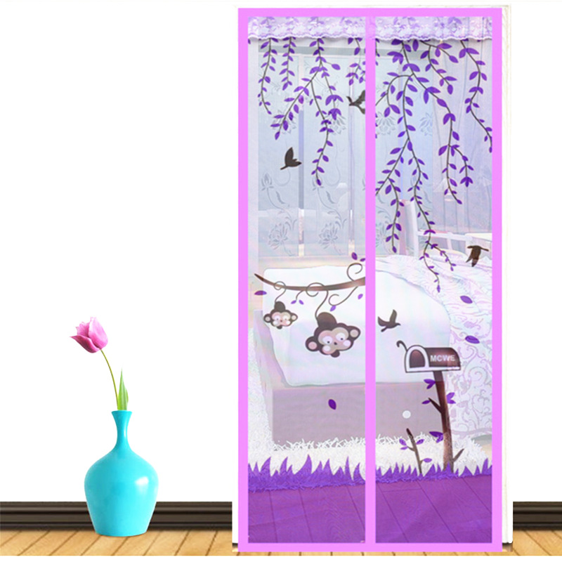 The new mosquito curtain box cartoon magnetic Ruansha curtains screen encrypted anti flies summer mosquito curtain black anti mosquito pest window net mesh screen curtain protector