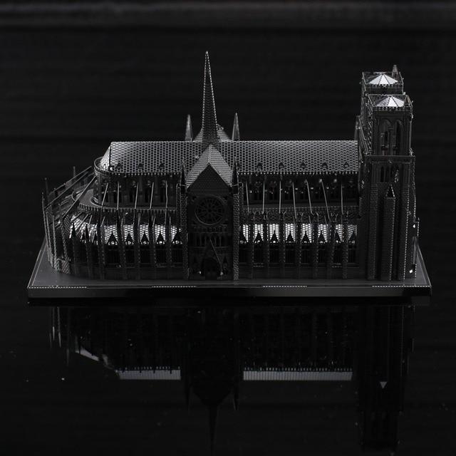 Hot Sale 3D metal model DIY Creative Notre Dame de Paris jigsaws ...