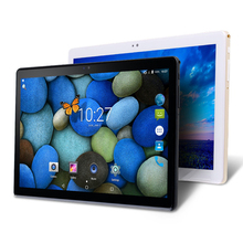цена на New 2.5D IPS Screen 10 Inch Android Tablet PC MTK6580 Quad Core 3GB RAM 32GB ROM WIFI GPS Dual SIM Card 3G WCDMA Phone Call