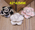 20PCS Trendy Flatback Enamel Alloy Flower Button Patchs Fashion Phone Case Decor Sticker Silver Tone Oil Drop Floral Patch